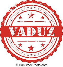 Vaduz City Grunge Stamp Symbol