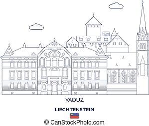 vaduz, liechtenstein, contorno, ciudad