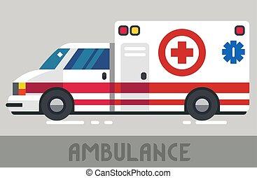 vagão, ambulância