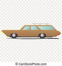 vagão, estação, -, caricatura, car
