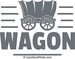 vagão, estilo, logotipo, vindima