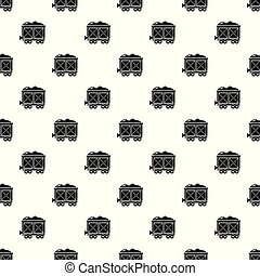 vagão, estrada ferro, vetorial, seamless, padrão