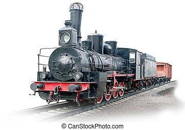 vagão, vapor, locomotiva