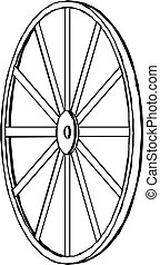 vagão, vetorial, illustration., wheel.
