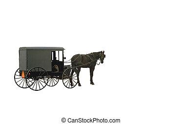 vagón, amish, objeto