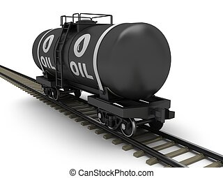 vagón, dráha, cisterna