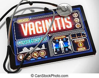 vaginitis, monde médical, exposer, diagnostic, tablet.
