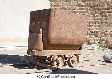 vagn, gammal, tåg