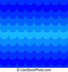 vague, bleu, modèle, seamless
