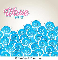 vague, eau