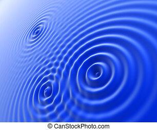 vagues bleu
