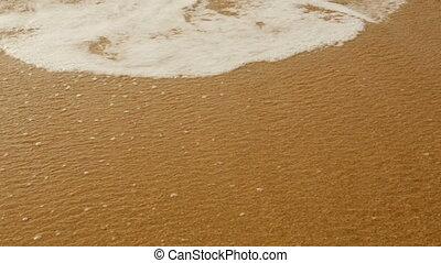 vagues, mousseux, sable