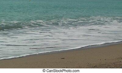 vagues, mousseux, tide., arrière-plan., mer, vacances