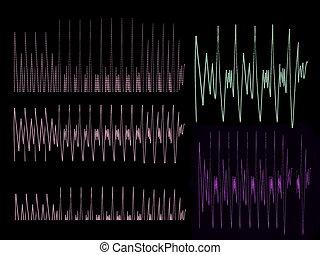 vagues, musique, fond, son