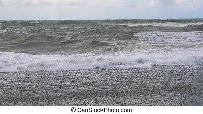 vagues océan, rupture