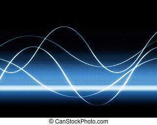 vagues, sur, vidéo