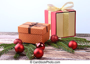 vagy, card., tehetség, gyertya, köszönés, dobozok, holidays., dekoráció, év, új, balls., karácsony, boldog
