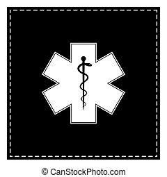 vagy, csillag, szükséghelyzet, orvosi, folt, fekete, Élet, jelkép