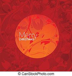 vagy, vektor, év, új, karácsony, kártya, boldog