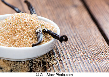 vainilla, (brown), azúcar