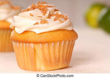 vainilla, cupcake, capa de azúcar glaseado, buttercream