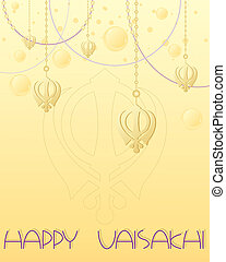 vaisakhi greeting - an illustration of a happy vaisakhi...