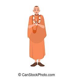 Vaishnav or krishnait dressed in traditional clothes...