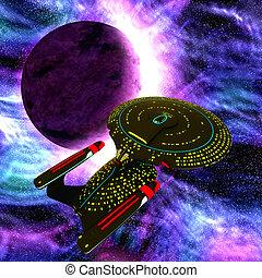 Vaisseau spatial fus e sur illustration fond blanc dessin anim 3d - Dessin vaisseau spatial ...