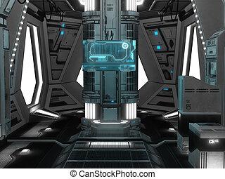 int rieur vaisseau spatial futuriste int rieur rendre. Black Bedroom Furniture Sets. Home Design Ideas