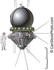 vaisseau spatial, premier