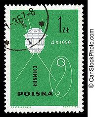 vaisseau spatial, soviétique, luna, 3