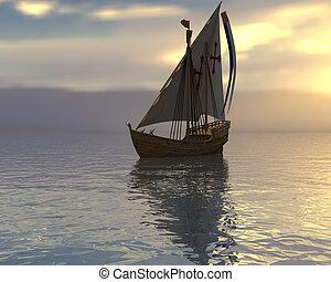 vaisseau, voile