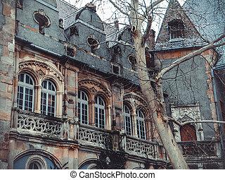 Vajdahunyad Castle in the City Park of Budapest -...