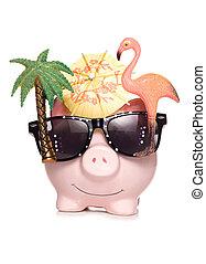 vakantie, besparing