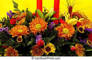 vakantie, bloemen, 2