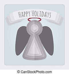 vakantie, engel, kaart
