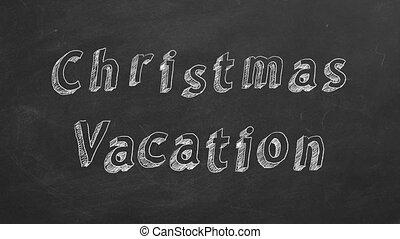 vakantie, kerstmis