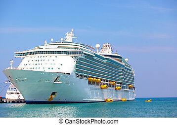 vakantie, lijntoestel, cruise