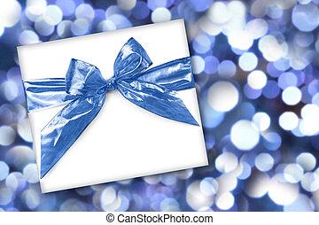 vakantie, of, verjaardag geschenk, op, abstract, achtergrond