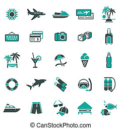 vakantie, ontspanning, signs.
