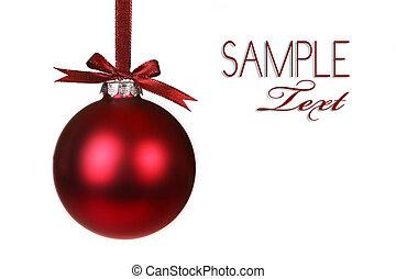 vakantie, ornament, kerstmis, hangend