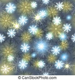 vakantie, pattern., sneeuwvlok, illustratie, seamless