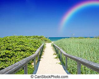 vakantie, regenboog