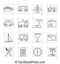 vakantie, toerisme, iconen