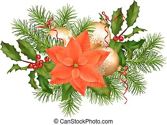 vakantie, vector, kerstmis, guirlande