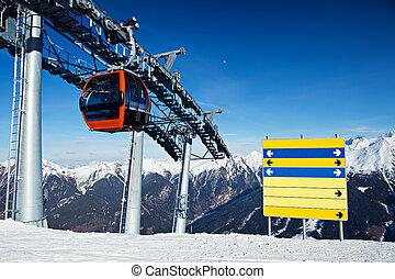 vakantiepark, ski