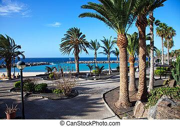 vakantiepark, strand