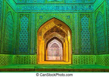 vakil, belépés, irán, shiraz, mecset