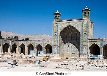 Vakil mosque under reconstruction, Shiraz, Iran
