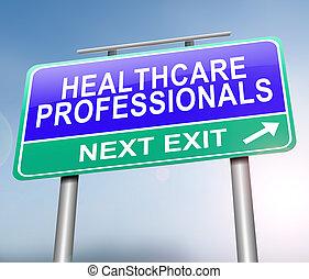 vakmensen, concept., gezondheidszorg
